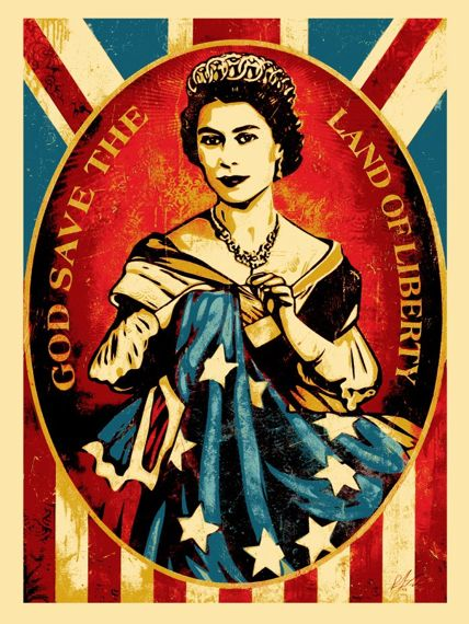 Queen Elizabeth Miss Liberty - Shepard-Fairey